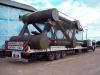 Transporte de estrutura metálica